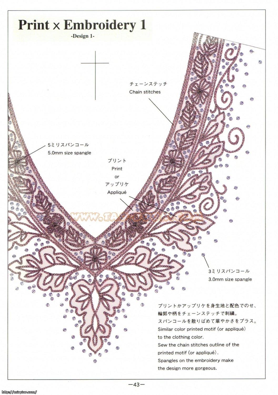 Вышивка на платье схемы