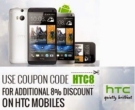 HTC Phones: Upto 35% Off + Extra 8% Off at Infibeam (24 Models Available) Lowest Price Offer