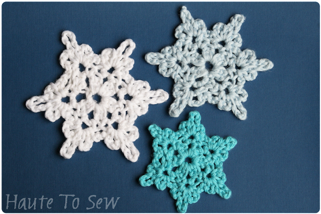 Crochet Snowflake Patterns Free Easy : Haute To Sew: Crochet Snowflakes