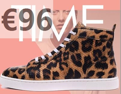 chaussures louboutin leopard basket