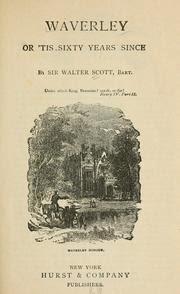 """Waverley o hace sesenta años"". Walter Scott."