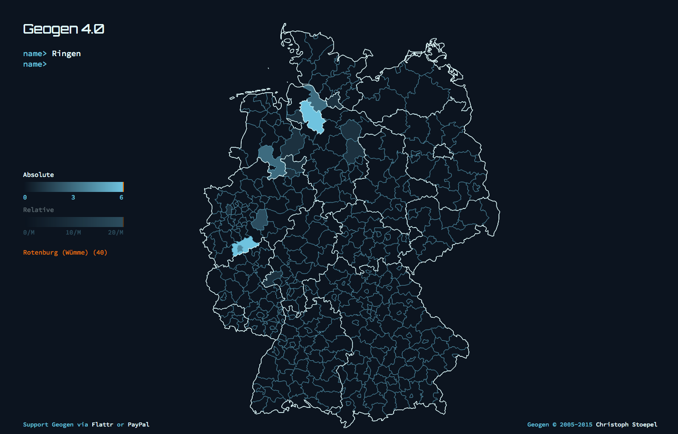 two sources that i turned up a surname distribution map for germany and the breddorf phone book something else i now know most germans with the surname