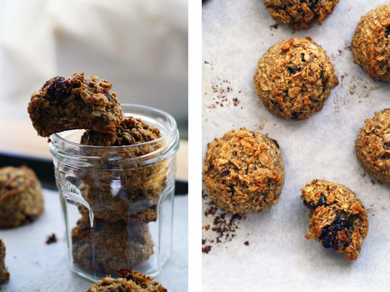 Soft Granola Bites with Cranberries + Almonds | Sevengrams