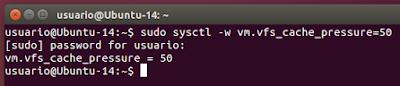 sudo sysctl -w vm.vfs_cache_pressure=50