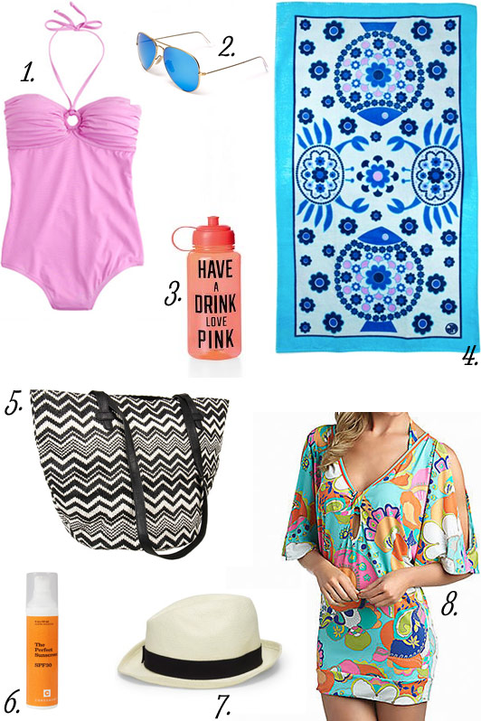 What's In My Bag, What's in My Beach Bag, summer, beach bag essentials, swim suite, swim cover-up, beach towel, beach bag