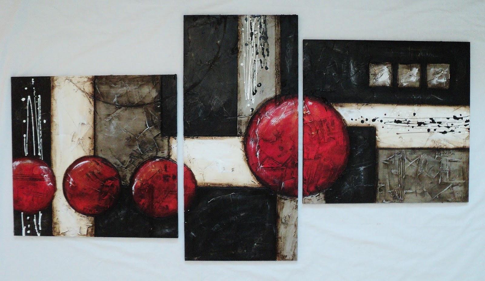 Cuadros en rojo y negro imagui - Cuadros abstractos relieve ...