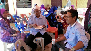 Menghadiri jamuan aidilfitri bersama masyarakat di Pekan Baru|adun kuala besut