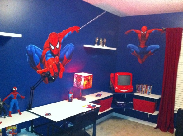 Spiderman bedroom curtains