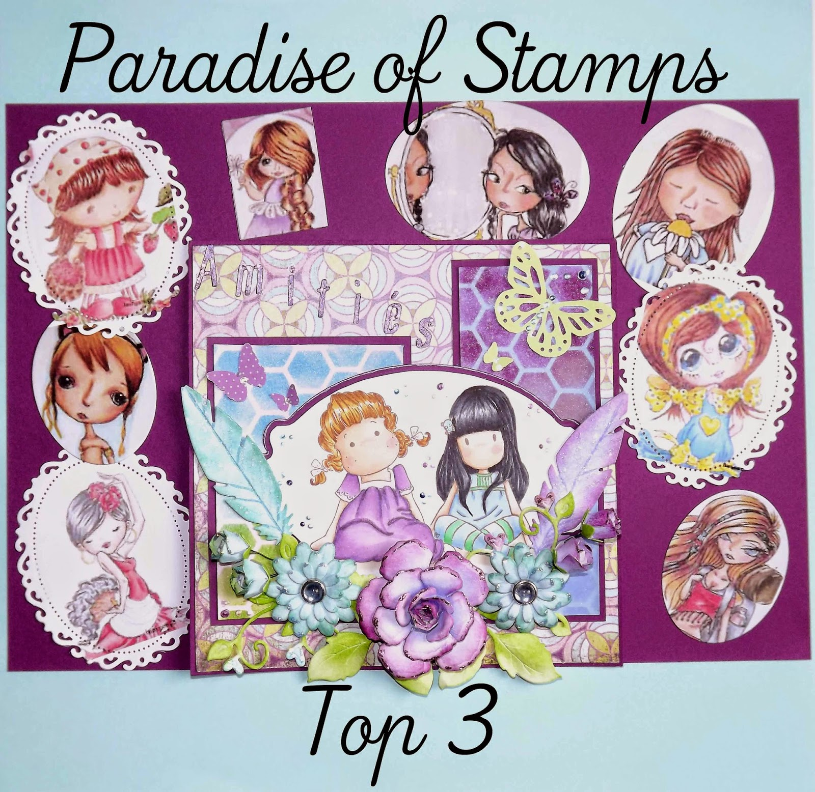 Paradise of Stamps Challenge#39 - Ribbon or Lace