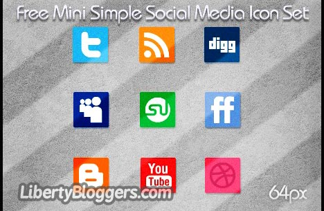 Free Mini Simple Social Media Icon Set