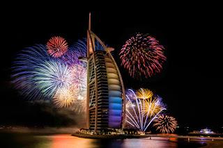 Gambar Kembang Api Tahun Baru 2016 Burj Khalifa Dubai Fireworks Happy New Year HD Wallpaper