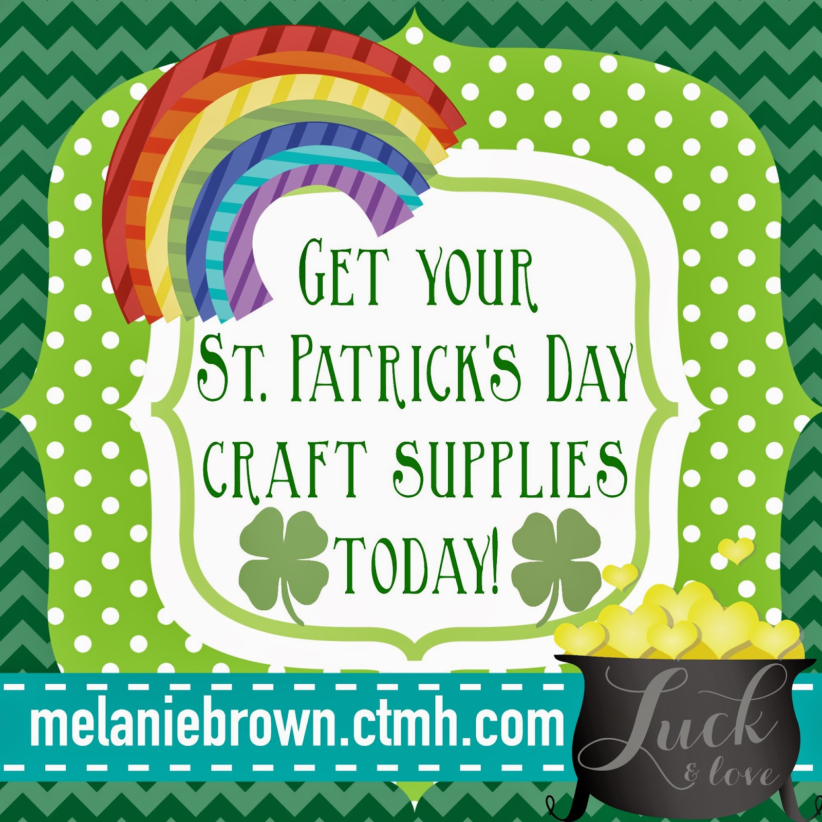 St. Patrick's Day themed crafting supplies