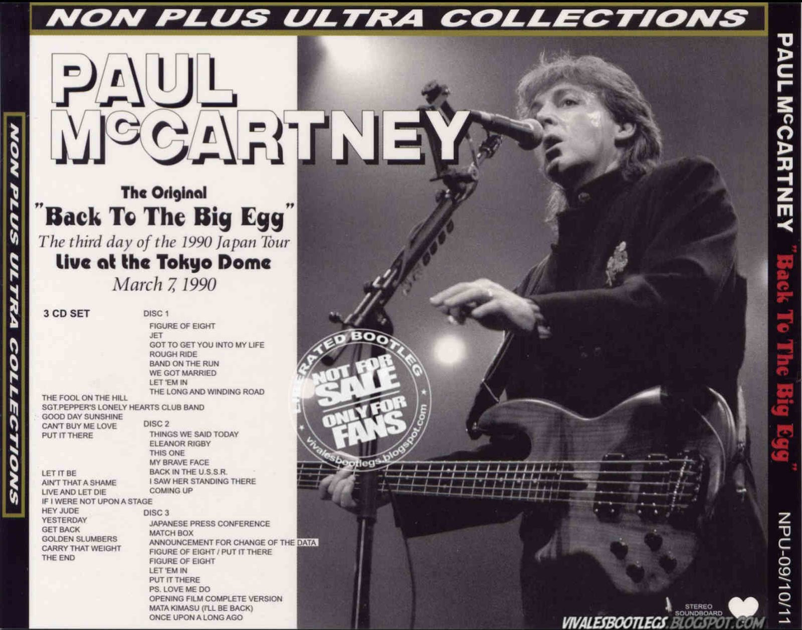 Paul Mccartney Back To The Big Egg Toyko Dome Tokyo