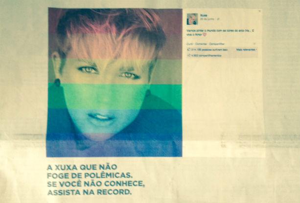 Record lembra post de Xuxa a favor do casamento igualitário para promover novo programa