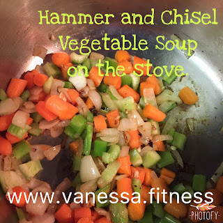 vegetables, gluten free, dairy free, clean eating, vegetable soup recipe, vanessa.fitness, vanessa.fit, hammer and chisel recipe