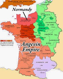 Plantagenet Holdings in France in 1154