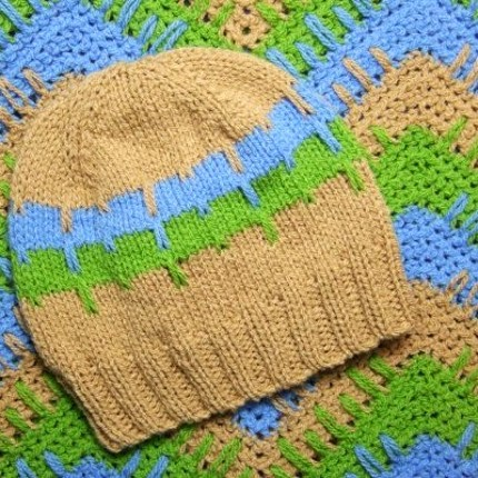 Top Down Elongated Stitches Baby Hat - Free Pattern