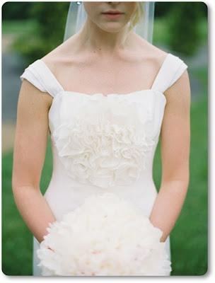 vit brudbukett hortensia