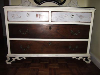 Reciclaje de muebles con pintura a la tiza. Coqueta