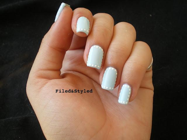 White Polka Dots Nails