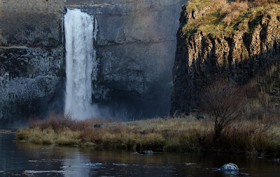 View from bottom of Palouse River Canyon, Palouse Falls State Park.