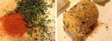 Lekker kroketten recept met extra kruiden in het paneermeel gemengd