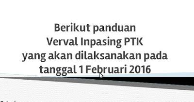 Panduan Verval Inpassing Kemenag tahun 2016