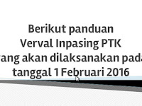 Panduan Verval Inpassing PTK 1 Februari 2016