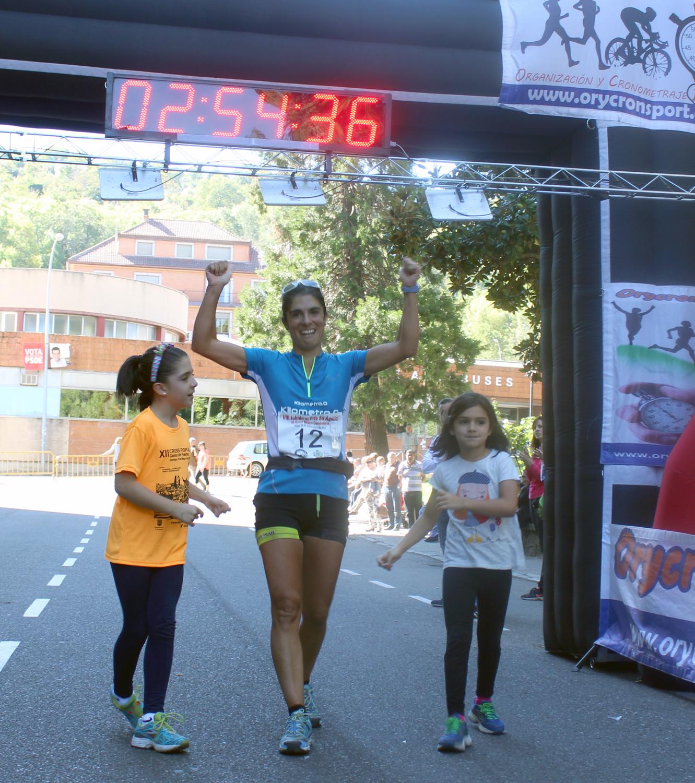 La ganadora de la VIII Subida al Pico del Águila, Mari Luz Jarrín. /TRAILCYL