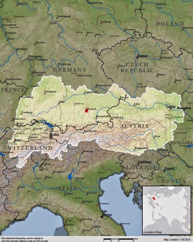 Alpenlandische Mission Map