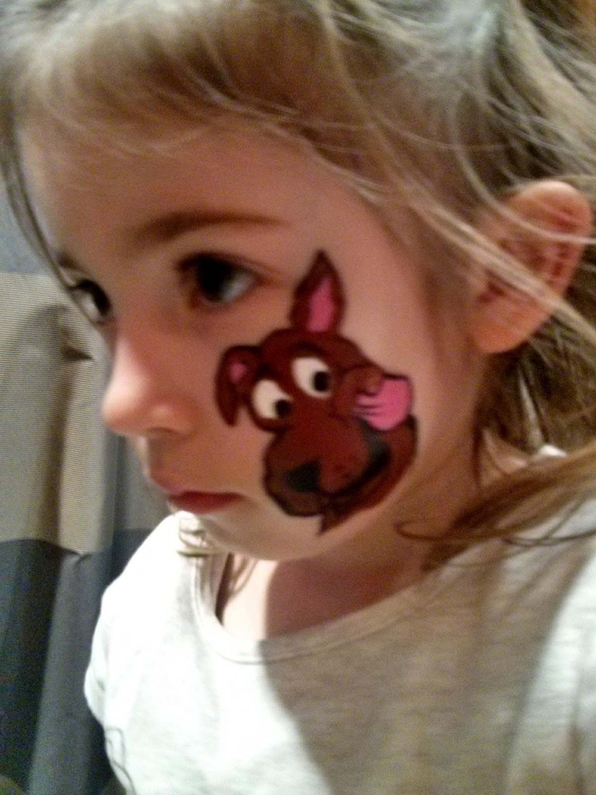 scooby doo face paint