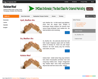Template Fast Loading dan Valid HTML5 Tapi Belum Jadi