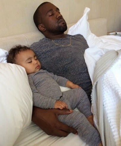 kanye north west sleeping