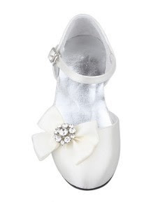 Crystal Bow - Flower Girl Shoes