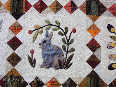 The Bunny Quilt, bunny block detail