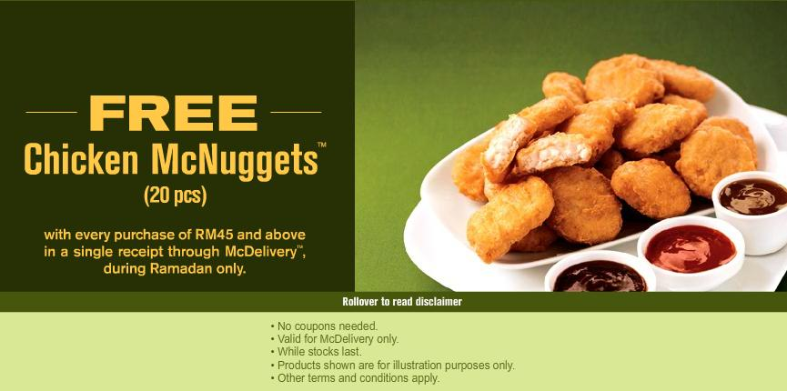 Blog For Food Mcdonalds Free 20 Pcs Chicken Mcnuggets
