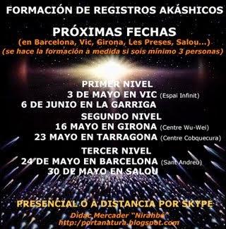 Formación Registros Akáshicos PRESENCIAL: Mayo-Junio 2015