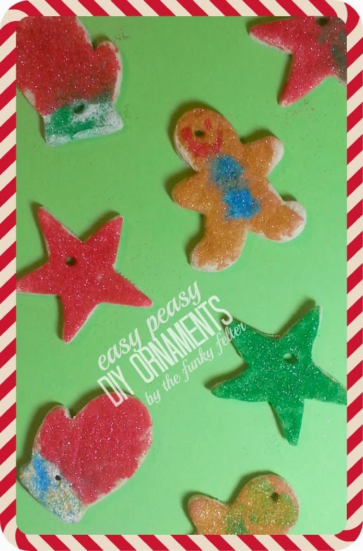 making fun and easy salt dough ornaments with the kids for Christmas