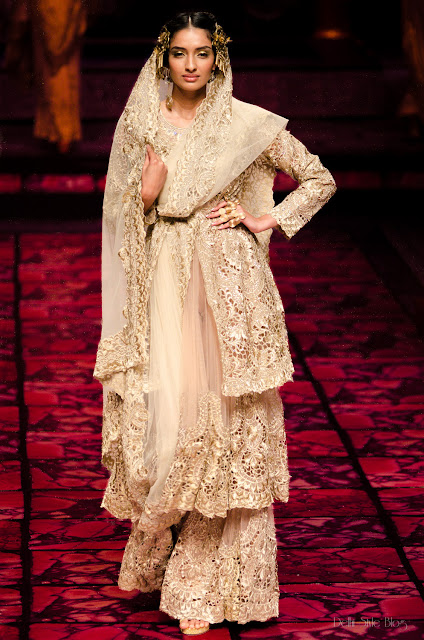 Suneet Varma India Bridal Fashion Week 2013 The Golden Bracelet Dayana Erappa