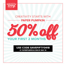 50% off Paper Pumpkin for new Subscribers.