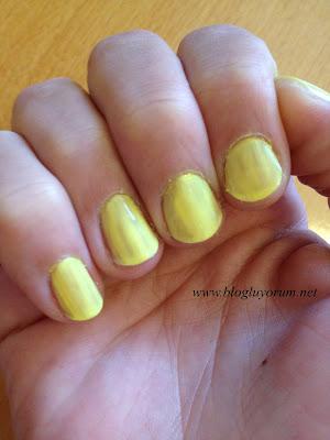 flormar fc20 sarı oje tek kat