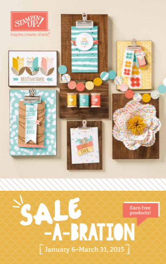 Sale-a-Bration 2015 Stampin Up Earn Free Products MidnightCrafting