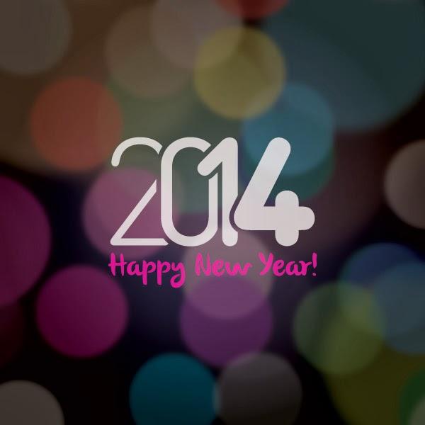 Fondo del nuevo año 2014  - Vector