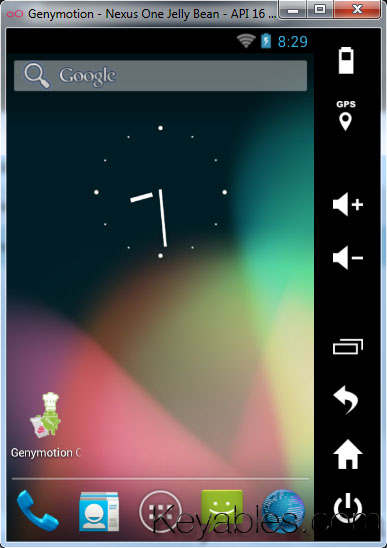 Genymotion - Nexus One Jelly Bean