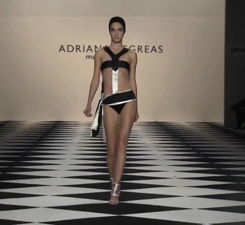 Zseniálisan elegáns - fekete fehér trikini fürdőruha fazon - Adriana Degreas 2014 tengerparti divat