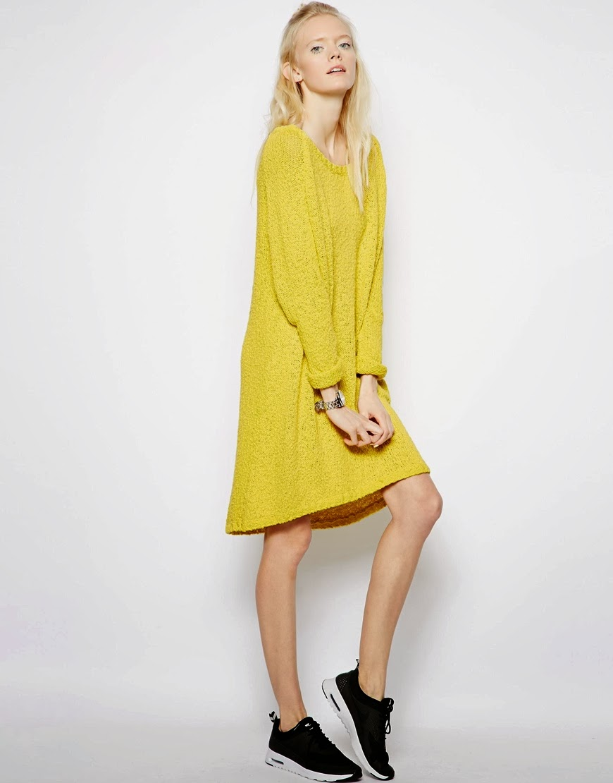 yellow jumper dress