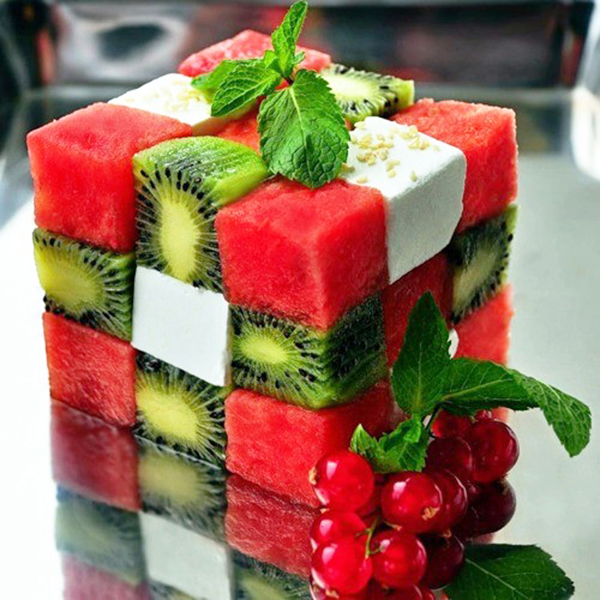 food art watermelon kiwi