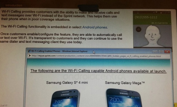 Samsung Galaxy S 4 Mini and Mega Free Wi-Fi Calling and Text Promo