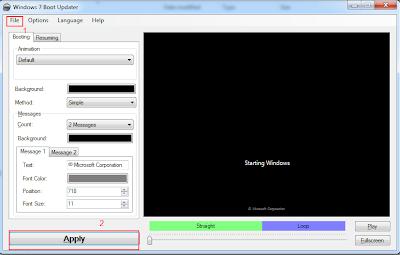 Mengganti Tampilan Start Boot Screen Windows 7