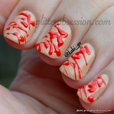 Halloween Nail Art Challenge: Blood